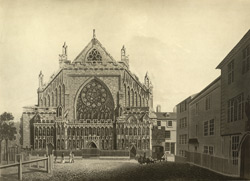 A West View of the Cathedral Church of St. Peter in Exeter